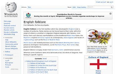 http://en.wikipedia.org/wiki/English_folklore
