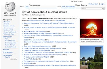 http://en.wikipedia.org/wiki/List_of_books_about_nuclear_issues