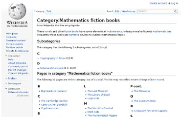 http://en.wikipedia.org/wiki/Category:Mathematics_fiction_books