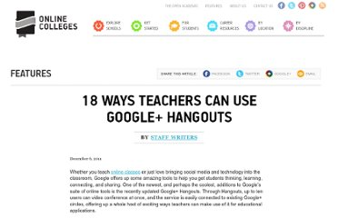 http://www.onlinecolleges.net/2011/12/06/18-ways-teachers-google-hangouts/