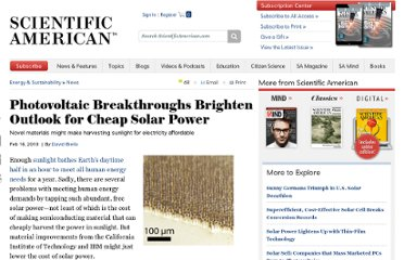 http://www.scientificamerican.com/article.cfm?id=photovoltaic-breakthroughs-brighten-outlook-for-cheap-solar-power