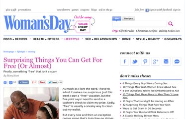 http://www.womansday.com/life/saving-money/surprising-things-you-can-get-for-free-or-almost-1031