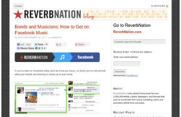 http://blog.reverbnation.com/2011/09/30/bands-and-musicians-how-to-get-on-facebook-music/