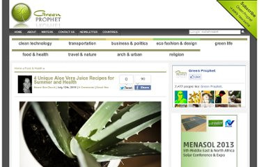 http://www.greenprophet.com/2010/07/aloe-vera-recipes/