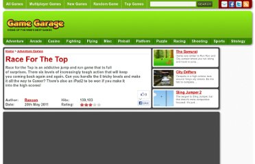 http://www.gamegarage.com/game/race-for-the-top/