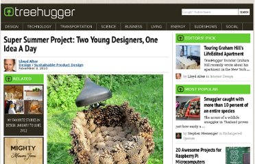 http://www.treehugger.com/sustainable-product-design/super-summer-project-two-young-designers-one-idea-a-day.html