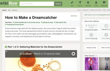 http://www.wikihow.com/Make-a-Dreamcatcher