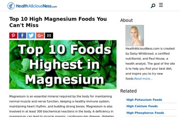 http://www.healthaliciousness.com/articles/foods-high-in-magnesium.php