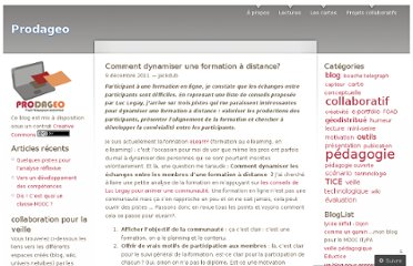 http://prodageo.wordpress.com/2011/12/09/comment-dynamiser-une-formation-a-distance/