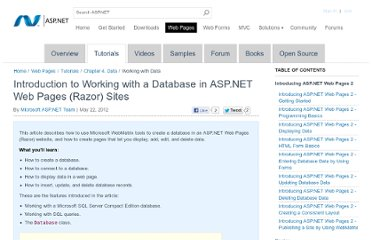 http://www.asp.net/web-pages/tutorials/data/5-working-with-data