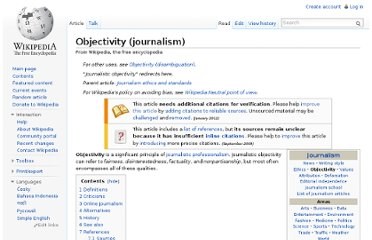 http://en.wikipedia.org/wiki/Objectivity_(journalism)