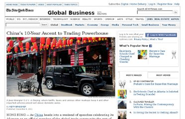 http://www.nytimes.com/2011/12/09/business/global/chinas-10-year-ascent-to-trading-powerhouse.html?_r=1&adxnnl=1&adxnnlx=1323533452-McoYORnofOd0pOZK9T+9hQ