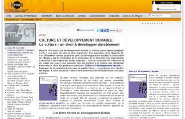 http://www.irma.asso.fr/CULTURE-ET-DEVELOPPEMENT-DURABLE