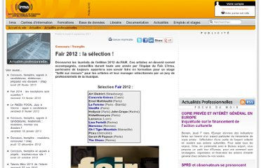 http://www.irma.asso.fr/Fair-2012-la-selection?xtor=RSS-6