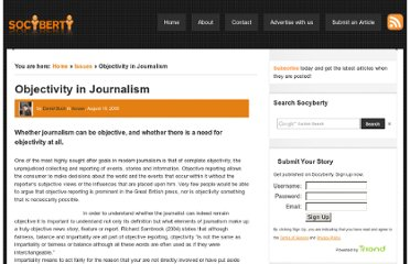 http://socyberty.com/issues/objectivity-in-journalism/