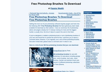 http://www.popularwealth.com/index.php/free-photoshop-brushes-download