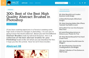 http://naldzgraphics.net/freebies/300-best-of-the-best-high-quality-abstract-brushes-in-photoshop/