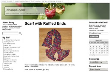 http://jenanne.com/knitting-patterns/scarf-with-ruffled-ends/