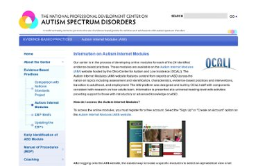 http://autismpdc.fpg.unc.edu/content/autism-internet-modules-aim