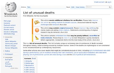 http://en.wikipedia.org/wiki/List_of_unusual_deaths