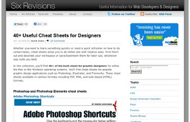 http://sixrevisions.com/graphics-design/40-useful-cheat-sheets-for-designers/