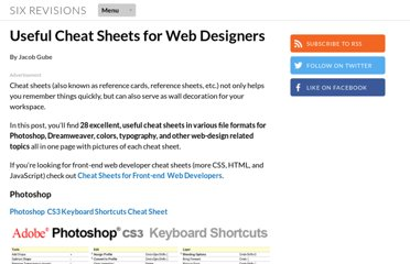 http://sixrevisions.com/resources/cheat_sheets_for_web_designers/