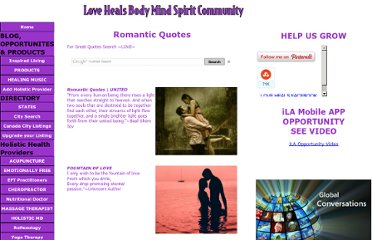 http://www.holistic-alternative-practioners.com/Romantic-Quotes.html