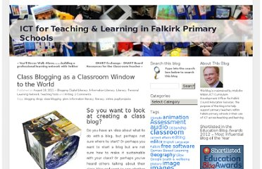https://blogs.glowscotland.org.uk/fa/ICTFalkirkPrimaries/2011/08/18/class-blogging-window-to-the-world/