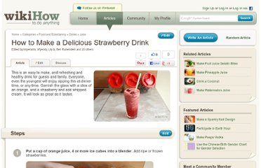 http://www.wikihow.com/Make-a-Delicious-Strawberry-Drink