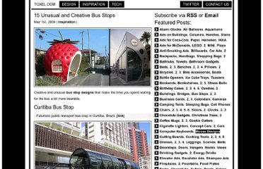 http://www.toxel.com/inspiration/2009/05/01/15-unusual-and-creative-bus-stops/