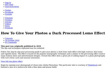 http://blog.spoongraphics.co.uk/tutorials/how-to-give-your-photos-a-dark-processed-lomo-effect