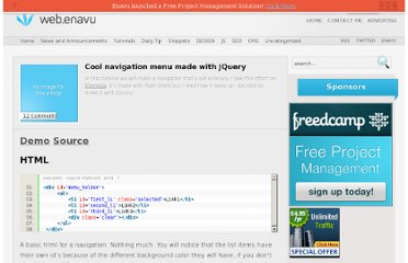 http://web.enavu.com/tutorials/cool-navigation-menu-made-with-jquery/