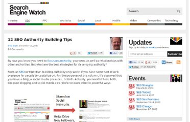 http://searchenginewatch.com/article/2131604/12-SEO-Authority-Building-Tips