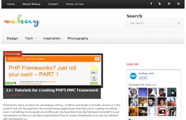 http://www.wokay.com/technology/12-tutorials-for-creating-php5-mvc-framework-56936.html