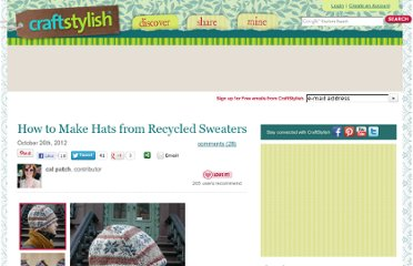 http://www.craftstylish.com/item/28927/how-to-make-hats-from-recycled-sweaters/page/2