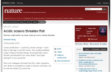 http://www.nature.com/news/acidic-oceans-threaten-fish-1.9607