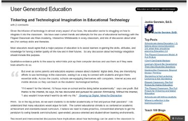 http://usergeneratededucation.wordpress.com/2011/12/11/tinkering-and-technological-imagination-in-educational-technology/