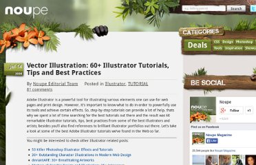http://www.noupe.com/tutorial/vector-illustration-60-illustrator-tutorials-tips-and-best-practices.html