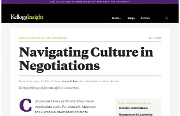 http://insight.kellogg.northwestern.edu/index.php/m/article/navigating_culture_in_negotiations/