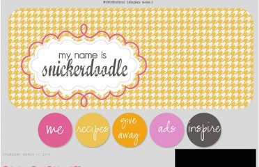 http://www.mynameissnickerdoodle.com/2011/03/fabulous-food-friday-79.html