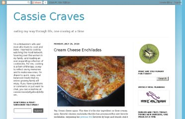 http://cassiecraves.blogspot.com/2010/07/cream-cheese-enchiladas.html