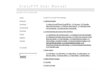 http://www.crossftp.com/manual.htm#2_9