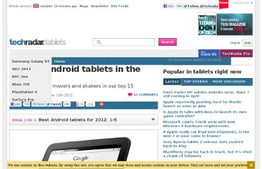http://www.techradar.com/news/mobile-computing/tablets/15-best-android-tablets-in-the-world-905504