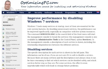 http://optimizingpc.com/windows7/optimizing_windows_7_services.html