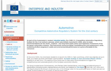 http://ec.europa.eu/enterprise/sectors/automotive/competitiveness-cars21/cars21/