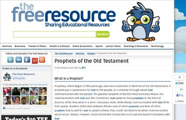http://www.thefreeresource.com/prophets-of-the-old-testament-resources-and-information