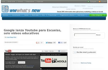 http://wwwhatsnew.com/2011/12/12/google-lanza-youtube-para-escuelas-solo-videos-educativos/
