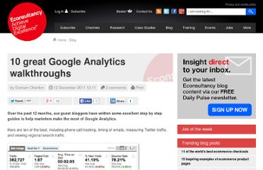 http://econsultancy.com/blog/8479-10-great-google-analytics-walkthroughs