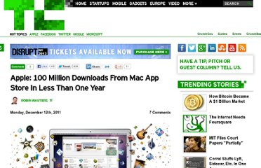 http://techcrunch.com/2011/12/12/apple-500000-apps-in-mac-app-store-100-million-downloads-to-date/