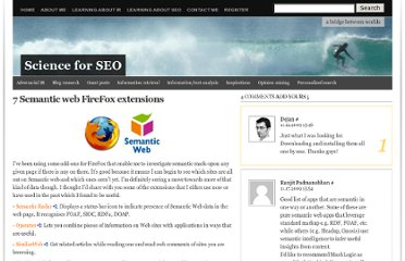 http://www.scienceforseo.com/semantic-web/7-semantic-web-firefox-extensions/